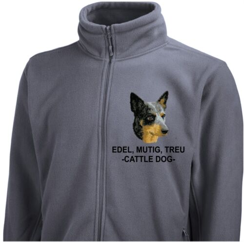 Fleecejacke Jacke CATTLE DOG Stickerei by Siviwonder Hund