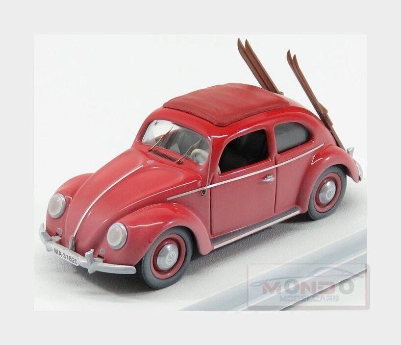 Volkswagen Beetle Kafer With Ski 1953 rouge RIO 1 43 RIO4561