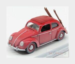 Volkswagen Beetle Kafer Avec Ski 1953 Rouge Rio 1:43 Rio4561
