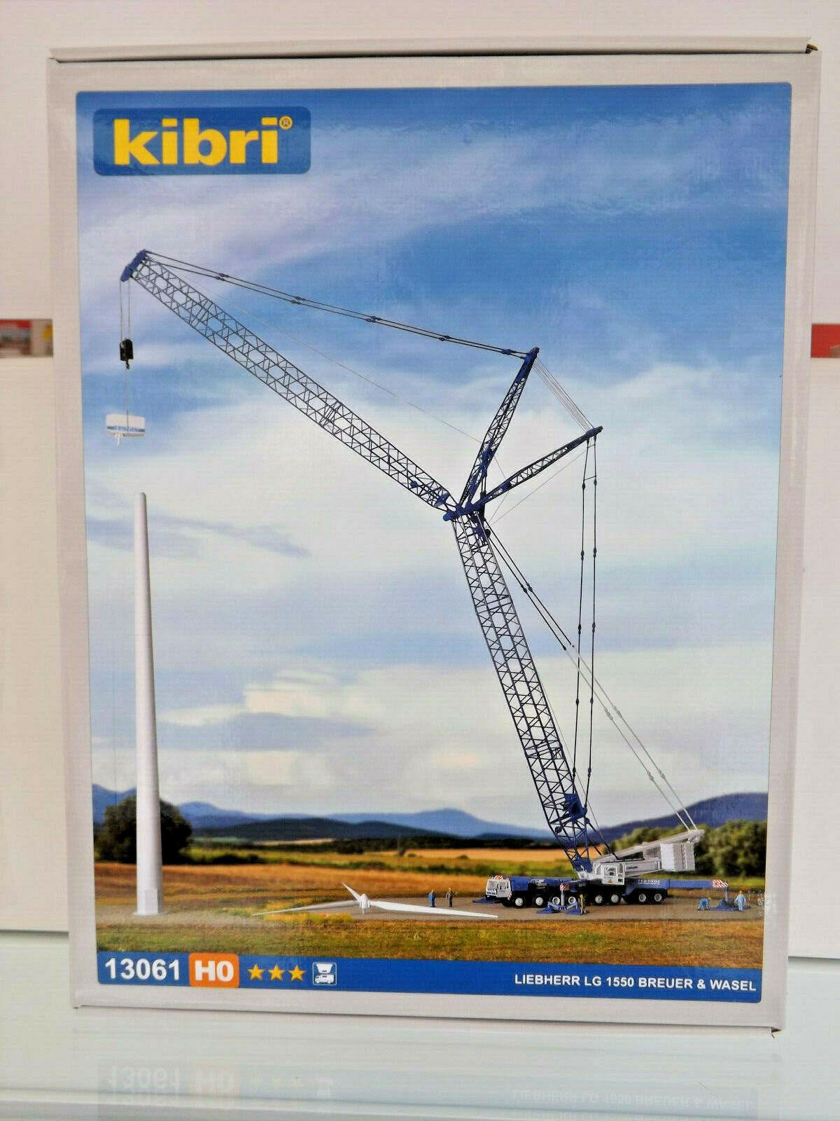 Kibri 13061 - H0 Kit - Liebherr LG 1550 Breuer & Wasel - Nuovo in Confezione