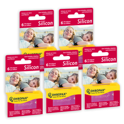 5 x Packs Ohropax Silicon Earplugs