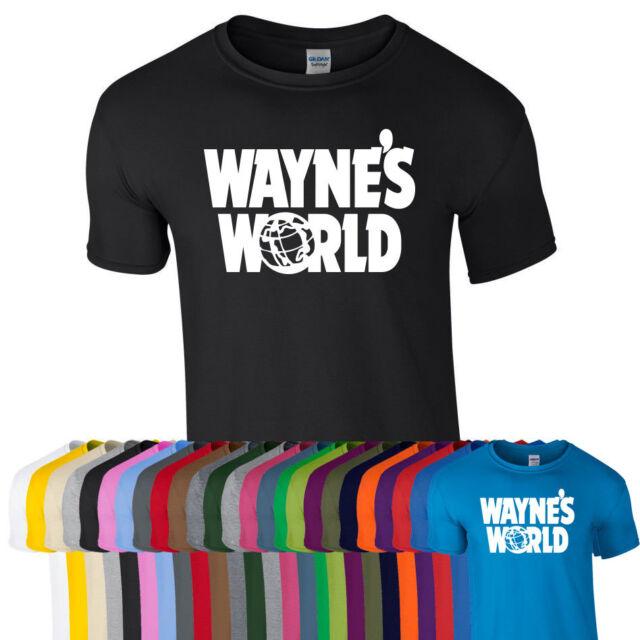 WAYNES WORLD Printed Tshirt Tee Top Party Halloween Retro Fan Fancy Dress Stag