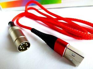 Atari XEGS 65xe 130xe 800xl 600xl USB power cable High Quality Red Blue Black 1.