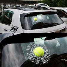 3D Smashed Tennis Ball Decal Broken Window Car Sticker Body Funny Joke Prank 462