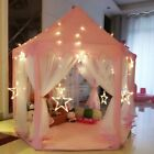 Girl Pink Princess Castle Fairy House Fun Netting Outdoor Kids Play Toy Tent