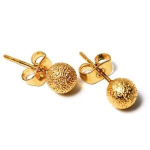 Fashion-Ball-Ohrringe-Suesse-Gold-Elegante-Schmuck-Ohrringe-Ball-Ohrstecker-JKS