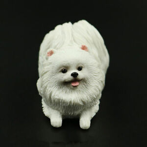 Resin Lovely Mini Pomeranian Dog Hand Painted Simulation Model