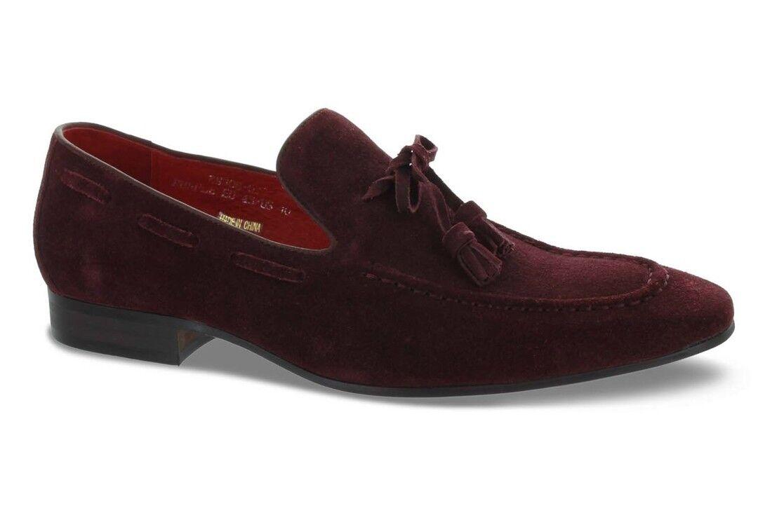 Carrucci Purple Suede Tassel Loafer shoes