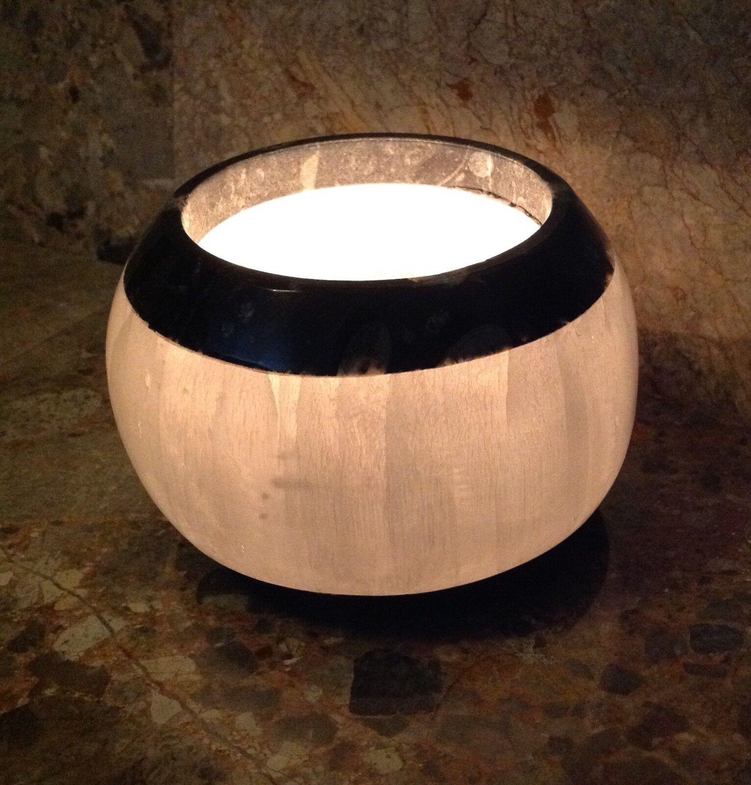 Selenita Angel Piedra Cristal & fósil candelita sostenedor de vela, Tazón Grande 1.5kg