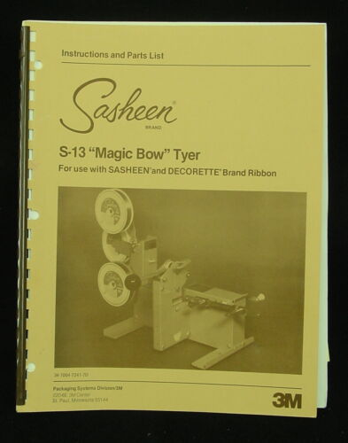 3 m Bow Tyer /& Bow Maker Operating Instruction Manual for S-10 S-72 S-81 S-13