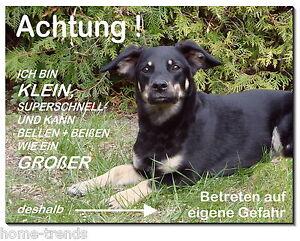 Dekoration Hunde Sparsam Mischling-hund-aluminium-schild-0,5-3 Mm Dick-türschild-warnschild-hundeschild