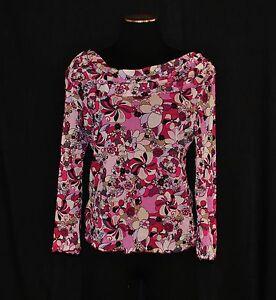 VTG-90s-Pink-Floral-Sheer-Fitted-Scoop-Neck-Blouse-Shirt-Top-sz-XLarge