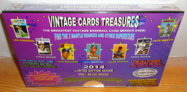VINTAGE CARDS TREASURES BASEBALL CHASE BOX!  21 PACKS!  FIND 1952 TOPPS MANTLE!