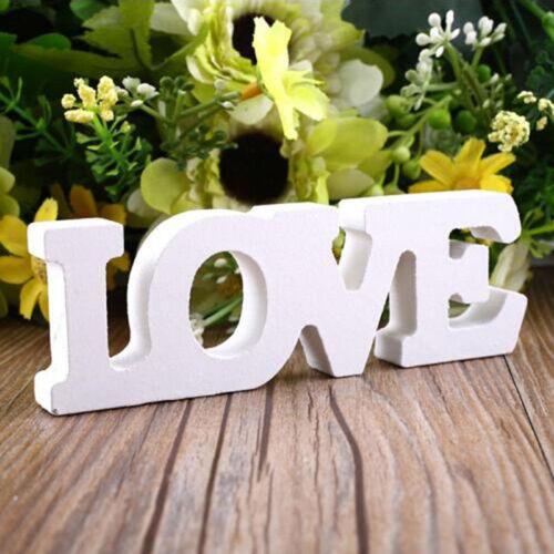 Wooden White Letters Love Alphabet Wedding Party Decorations Couples Parts WE