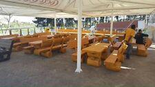 Holzgarnitur Sammelpaket 9 Garnituren - 18 Bänke 9 Tische in 2m länge