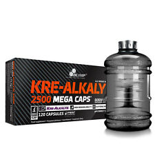 27€/100g Olimp Kre Alkalyn 2500 Creatin 120 Kapseln + BONUS Water-Gallon