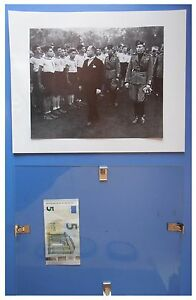 Benito-Mussolini-avanguardisti-campo-Dux-duce-fascismo-quadro-cornice-vetro