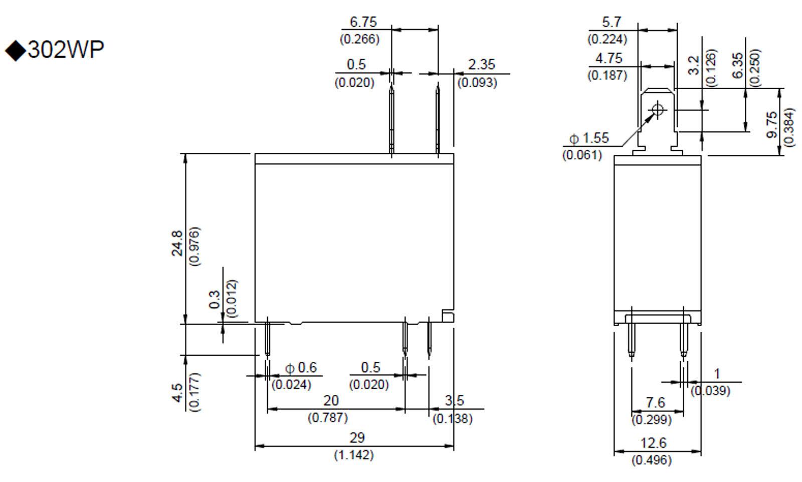 1pcs Miniature PCB Power Relay Song Chuan 302 302wp-1ah-c M02 12vdc | eBay