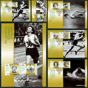 1998-Olympic-Legends-Maxi-Cards-Prepaid-Postcard-Maxicards-Stamps