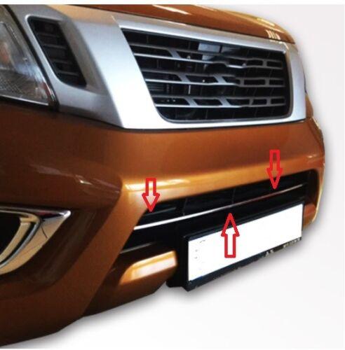 Nissan Navara np300 front anti-chocs TRIM Cover Picker Chrome 2016-2018