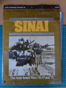 100% Vrai Sinai Complet Par Spi Board Jeu De Guerre-afficher Le Titre D'origine Marchandises De Haute Qualité