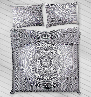 Indian Mandala Duvet Doona Quilt Cover Set Queen /&Twin Size Bedding Throw Cover