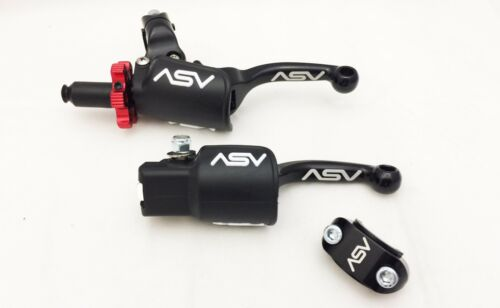 ASV Shorty Holiday Pro Pack Brake Clutch Levers Black Yamaha Raptor 700