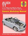 Audi TT Coupe and Roadster 1999 to 2006 Haynes Manual 6369 NEW