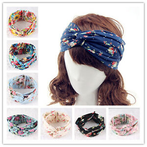 Women Knotted Hair Band Fashion Turban Twist Knot Head Wrap Headband Twisted