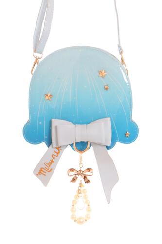 Lb-95-2 H BLU Jellyfish medusa perle fiocco PASTEL GOTH LOLITA Borsa kawaii