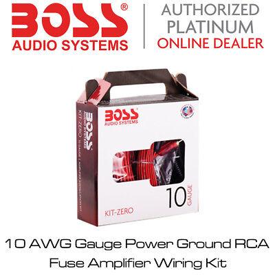 10 AWG Gauge Power Ground RCA Fuse Amplifier Wiring Kit Boss Audio KIT-Z