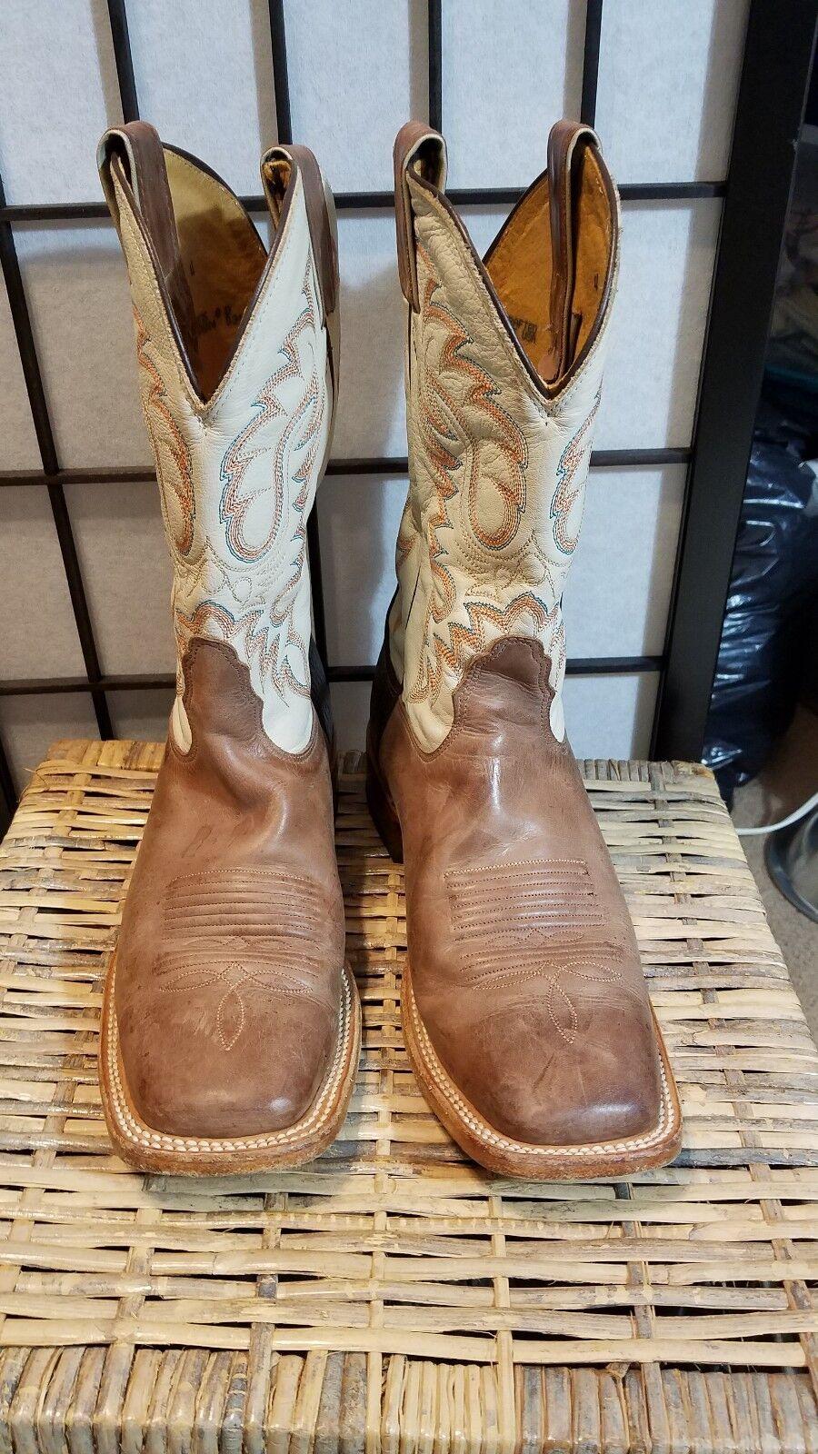 NOCONA Cowboy Stiefel Mens MD2701 TAN VINTAGE COW 8 D Excellent Condition