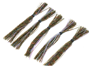 """5 Pack 6th Sense Silicone Skirt 5/"""" /""""Candy Bluegill/"""""""