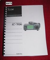 Icom Ic-706 Instruction Manual W/the Heavier Protective Covers On 32 Lb Paper