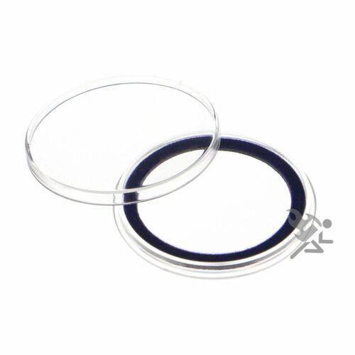 10 Air-tite 40mm Blue Velour Colored Ring Coin Holder Capsules for American