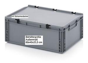 Behaelter-mit-Scharnier-Deckel-60x40x23-5-stabile-robuste-Kunststoff-Boxen-Kisten