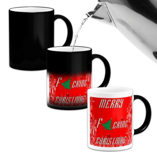 Merry F*CKING CHRISTMAS Funny Novelty Heat Colour Changing Mug