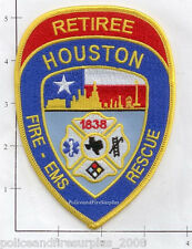 Texas - Houston Fire Rescue Retiree TX Fire Dept Patch