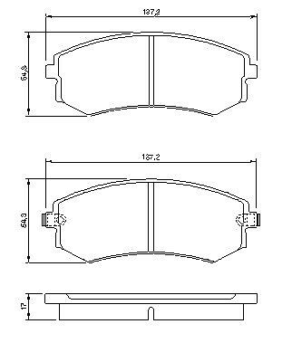 Fits Kia Venga 2010-2015 Yn Vetech Front Brake Pad Set Braking System Kit