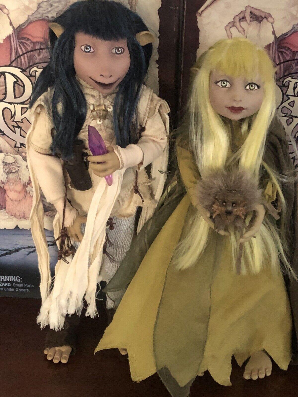 "Dark Crystal Jen & Kira Sideshow Figures 12"" RARE Gelfling dolls Jim Henson on eBay thumbnail"