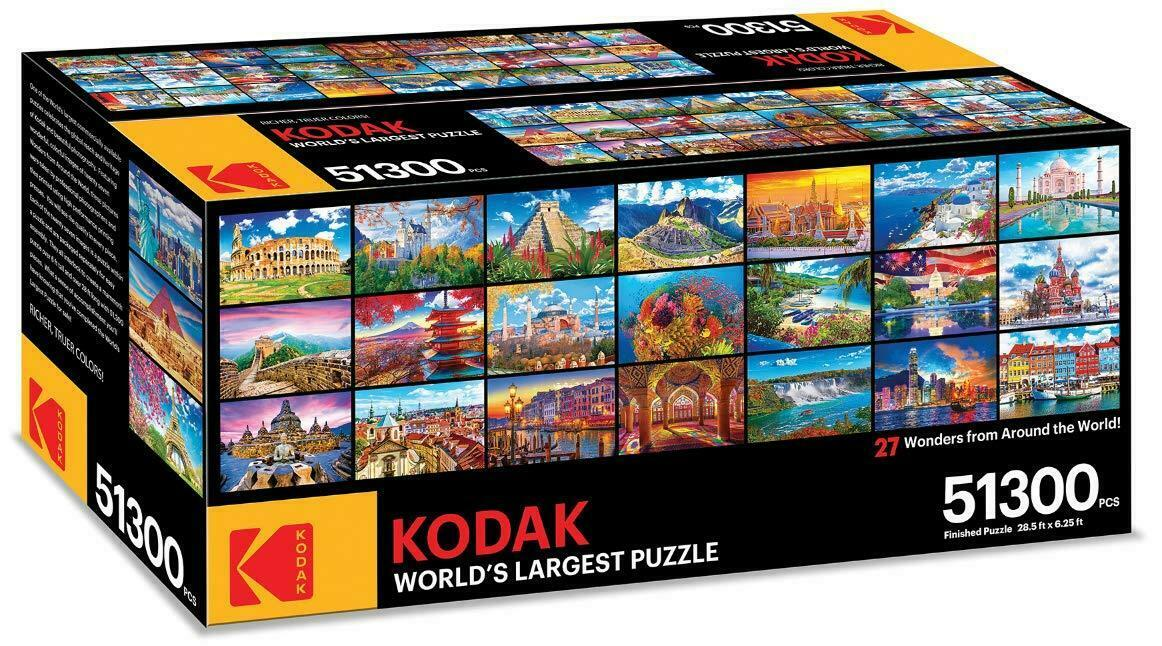 KODAK PREMIUM WORLD'S LARGEST PUZZLE 27 WONDERS OF THE WORLD 51,300 PCS  8950ZZ
