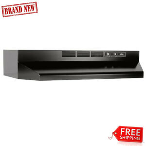 Details about Broan Stainless Steel Ductless Range Hood Insert with Light,  Exhaust Fan for 36