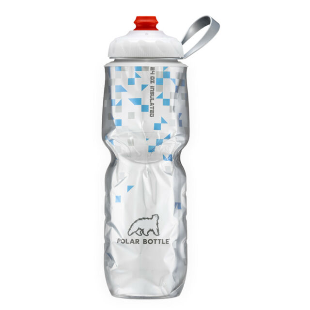 Polar Bottle 24oz Insulated Water Drink Bottle - BPA FREE - BREAKAWAY BLUE 0051