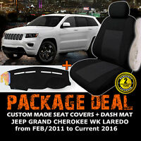 Car Seat Covers 2rows + Dash Mat Jeep Grand Cherokee Wk Laredo 2/2011-16 Dm1237