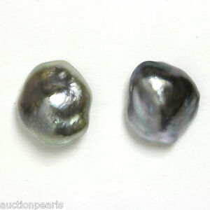 Image Is Loading Tahitian Keshi Pearl Stud Earrings 14kt 12mm