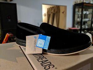 bbe1b63e425e Foamtreads REGAL Mens Black Velour Slip On House Shoes Comfort ...