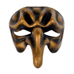 Maschera Di Venezia Nasone Lunghi Naso Bronzo Carta Cartapesta Polichinelle 2211