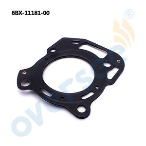 6BX-11181-00 GASKET, CYLINDER HEAD 1 For Yamaha Outboard Engine 4HP 6HP
