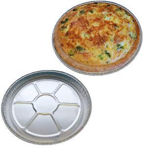 FOIL-Pie-plats-rond-en-Aluminium-8-034-Plat-Tarte-Quiche-Flan-Jetable-Individuel