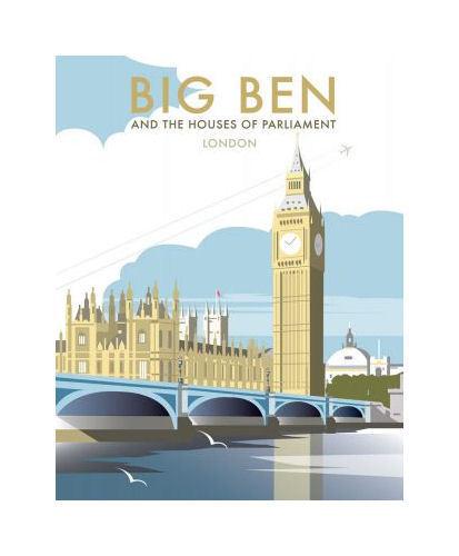 Big Ben And The Houses Of Parliament Tea Towel - London